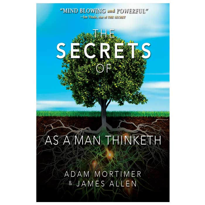 Book Cover Typography Examples : The secrets of as a man thinketh right think